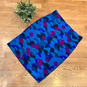 LuLaRoe Cassie skirt blue/purple L (EUC)
